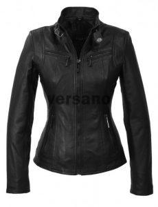 zwarte leren jas